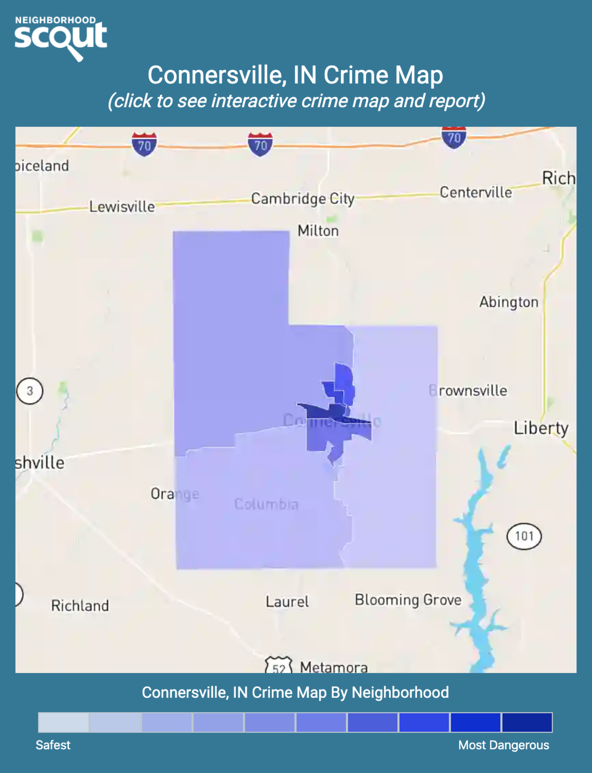 Connersville, Indiana crime map