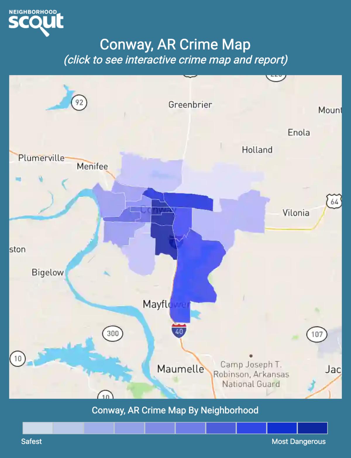 Conway, Arkansas crime map
