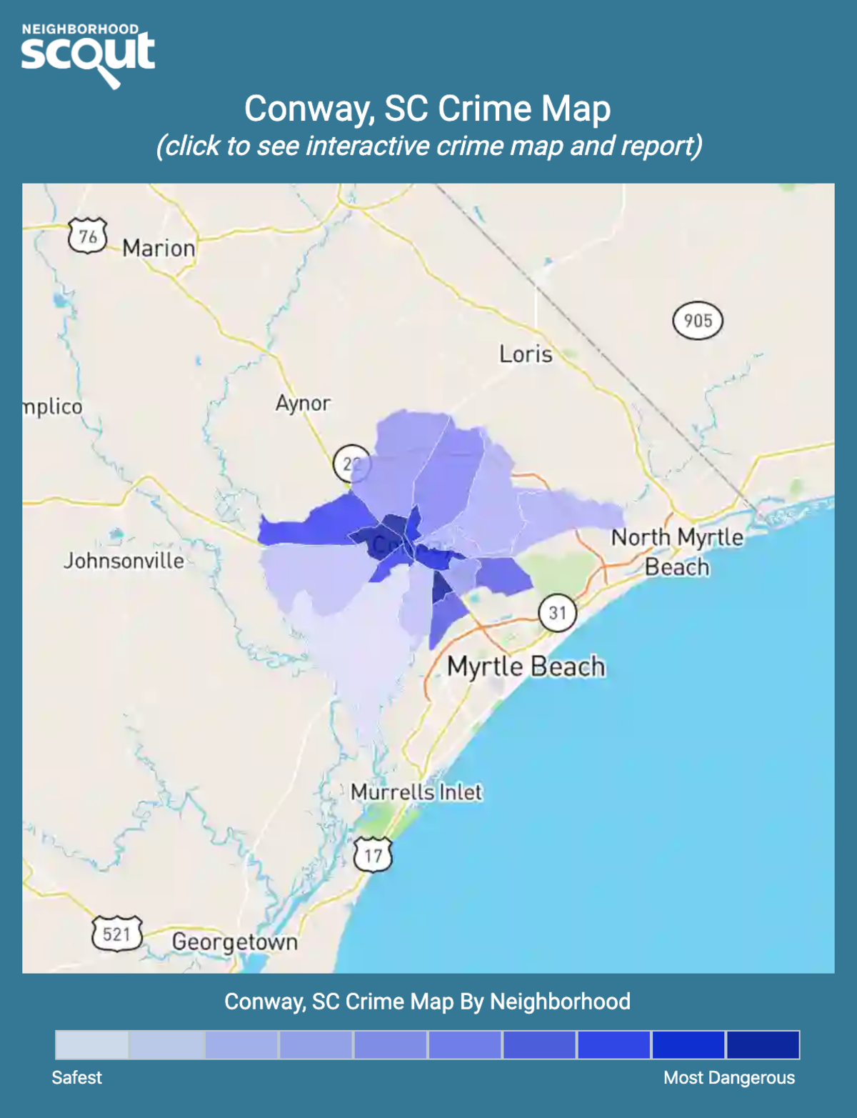 Conway, South Carolina crime map