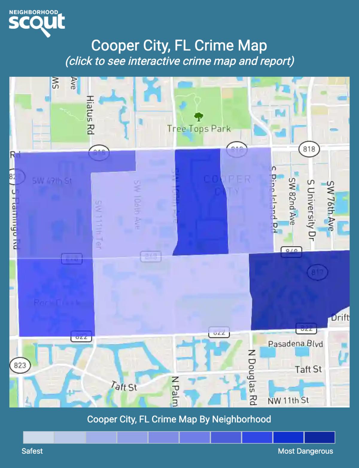 Cooper City, Florida crime map
