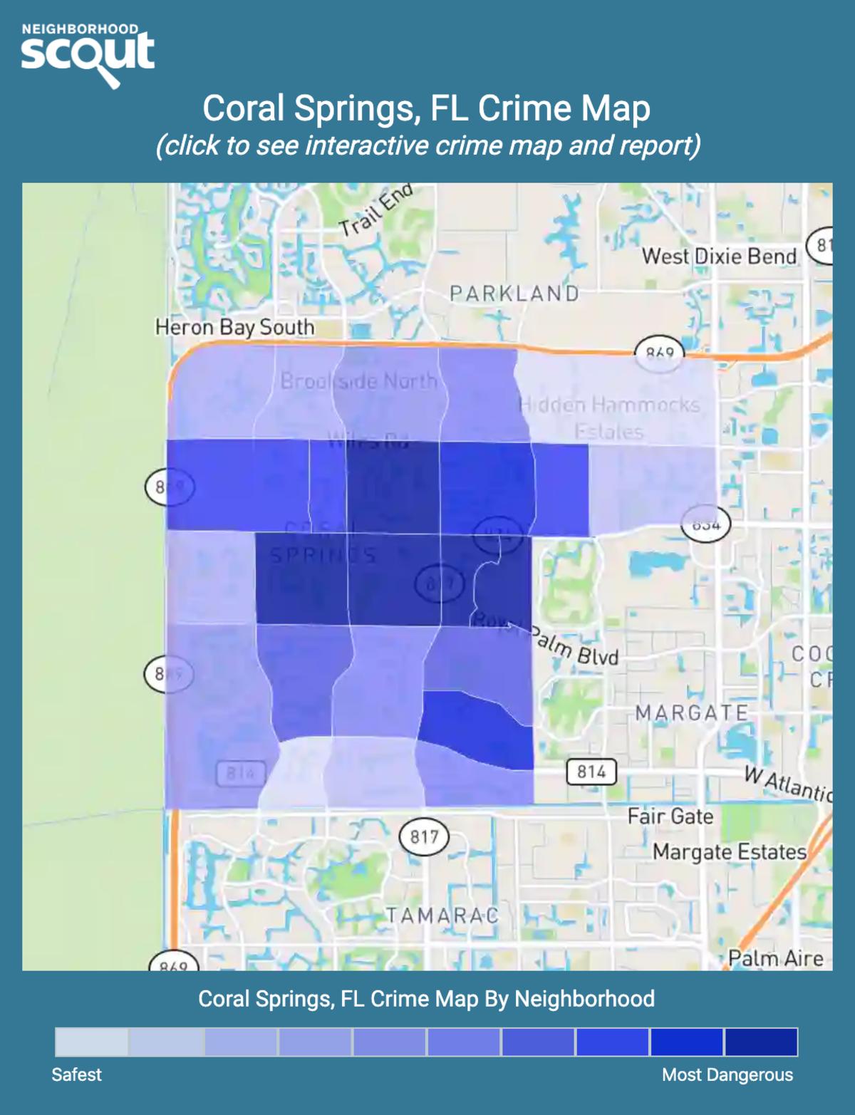 Coral Springs, Florida crime map