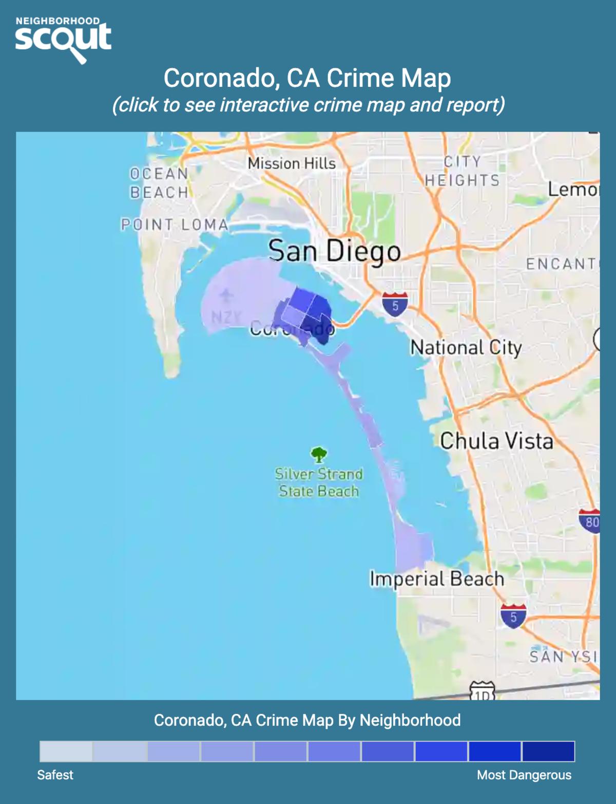 Coronado, California crime map