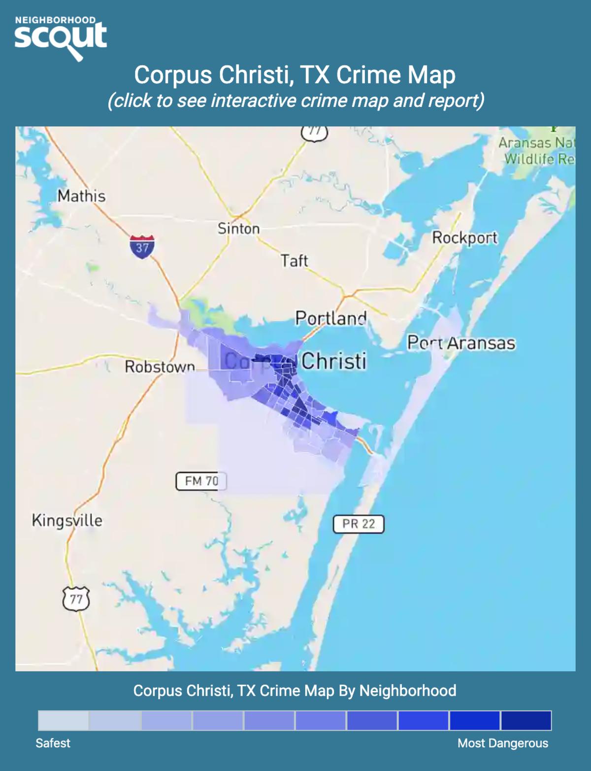 Corpus Christi, Texas crime map
