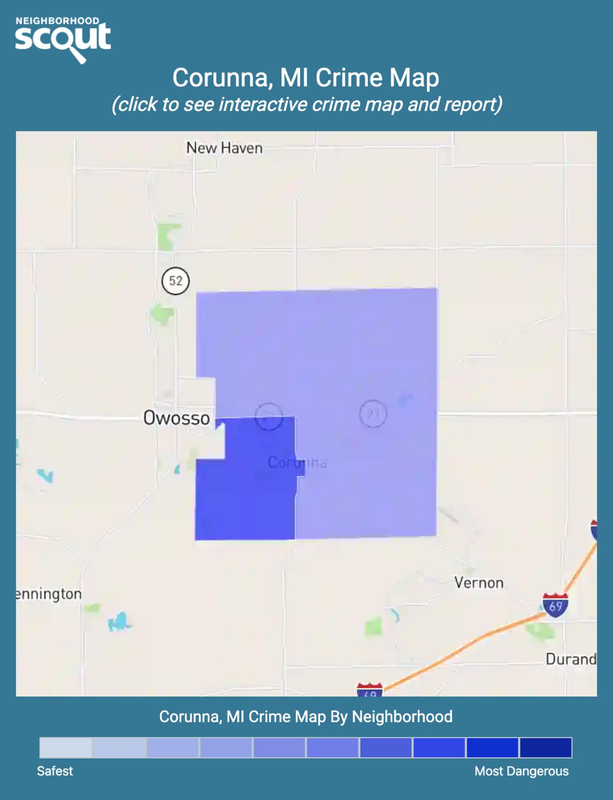 Corunna, Michigan crime map