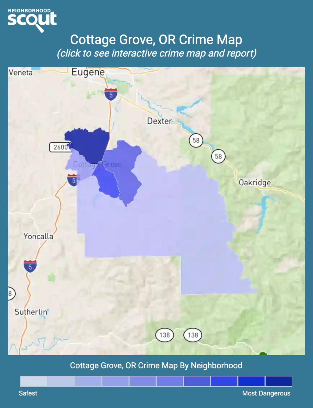 Cottage Grove, Oregon crime map