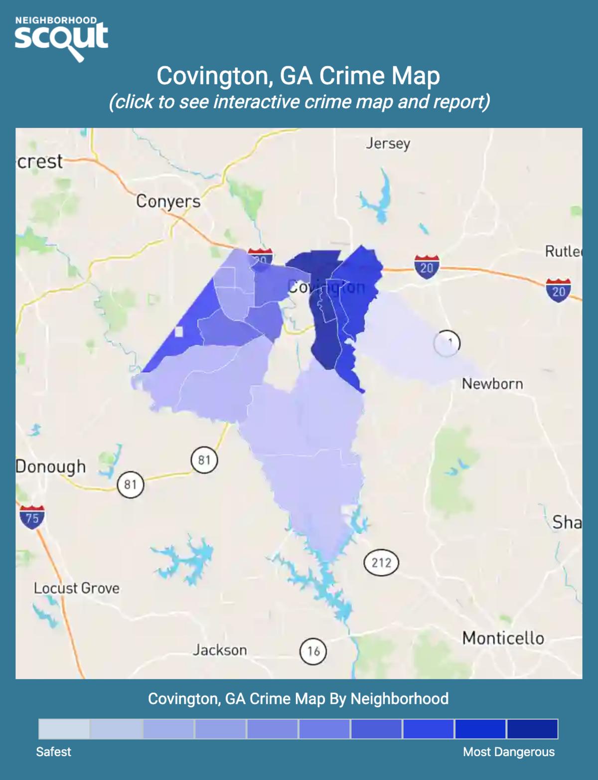 Covington, Georgia crime map