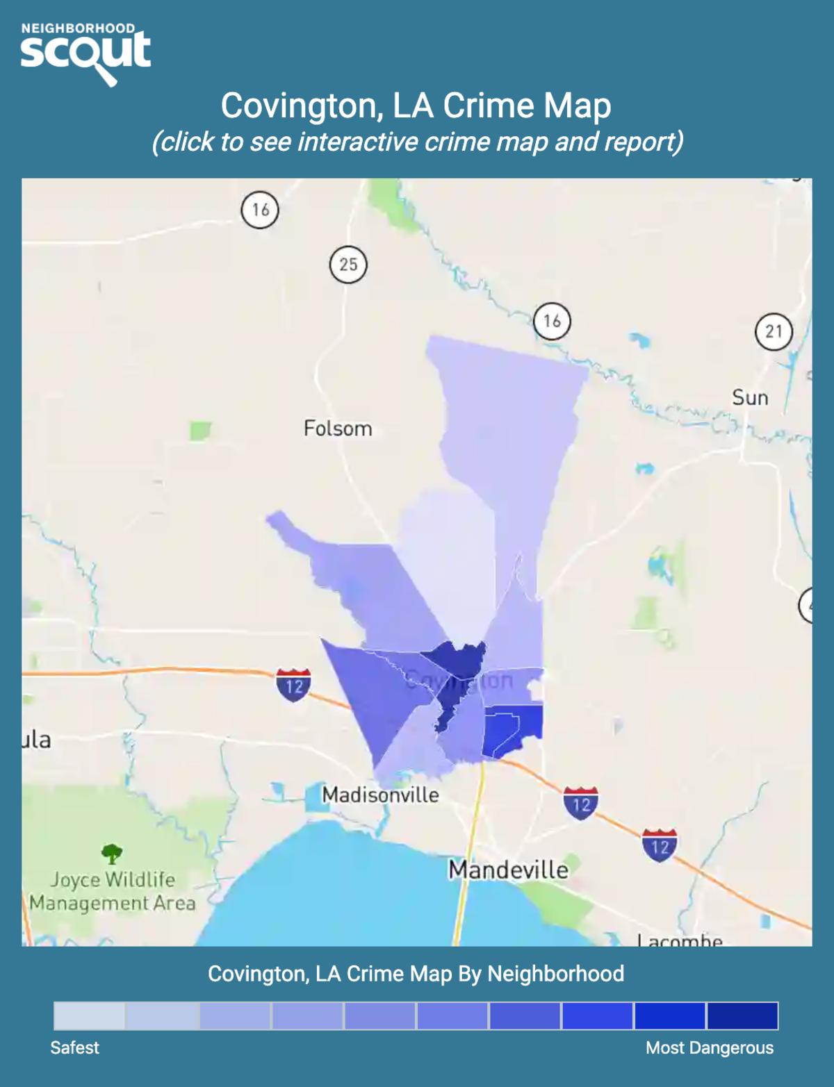 Covington, Louisiana crime map