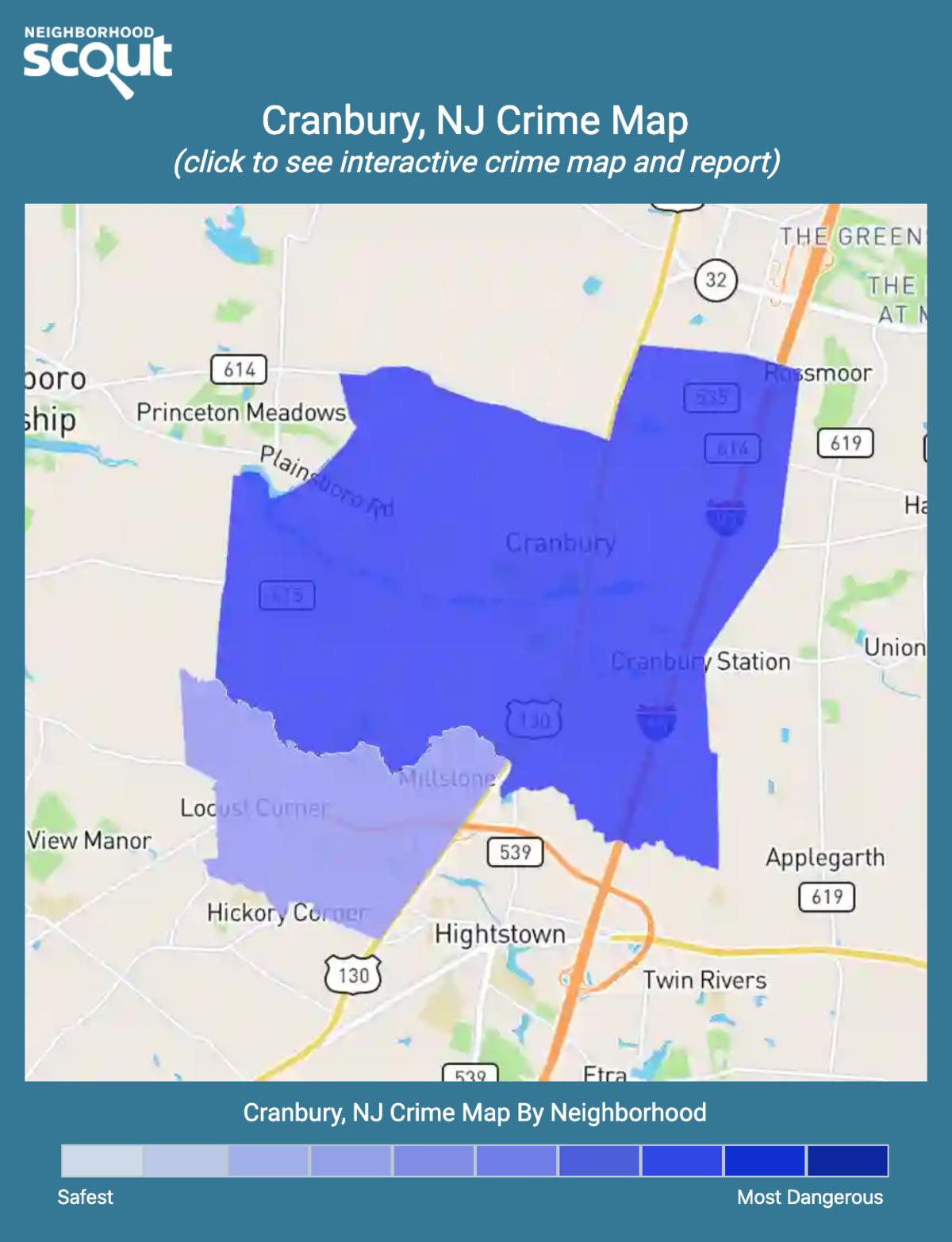 Cranbury, New Jersey crime map