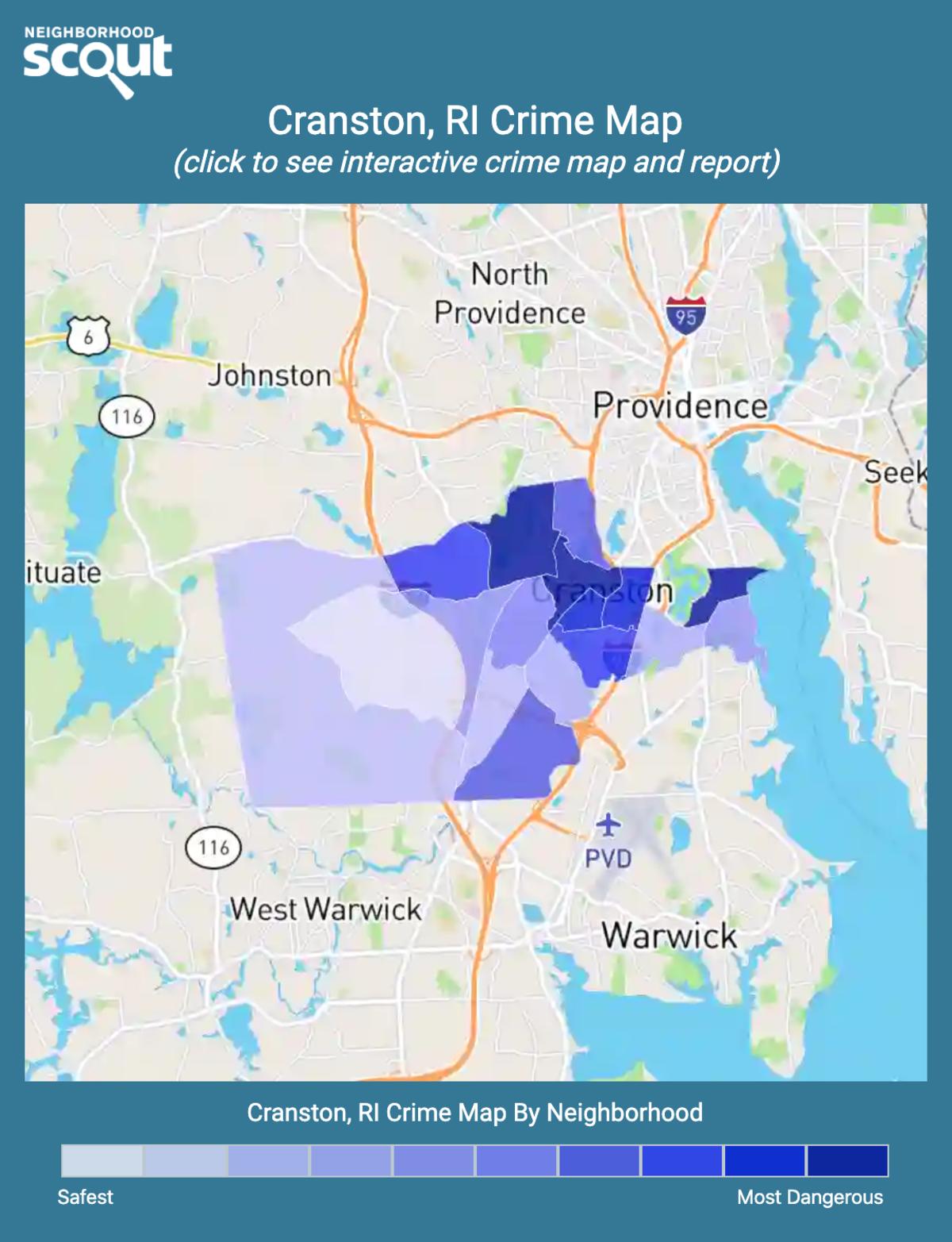 Cranston, Rhode Island crime map