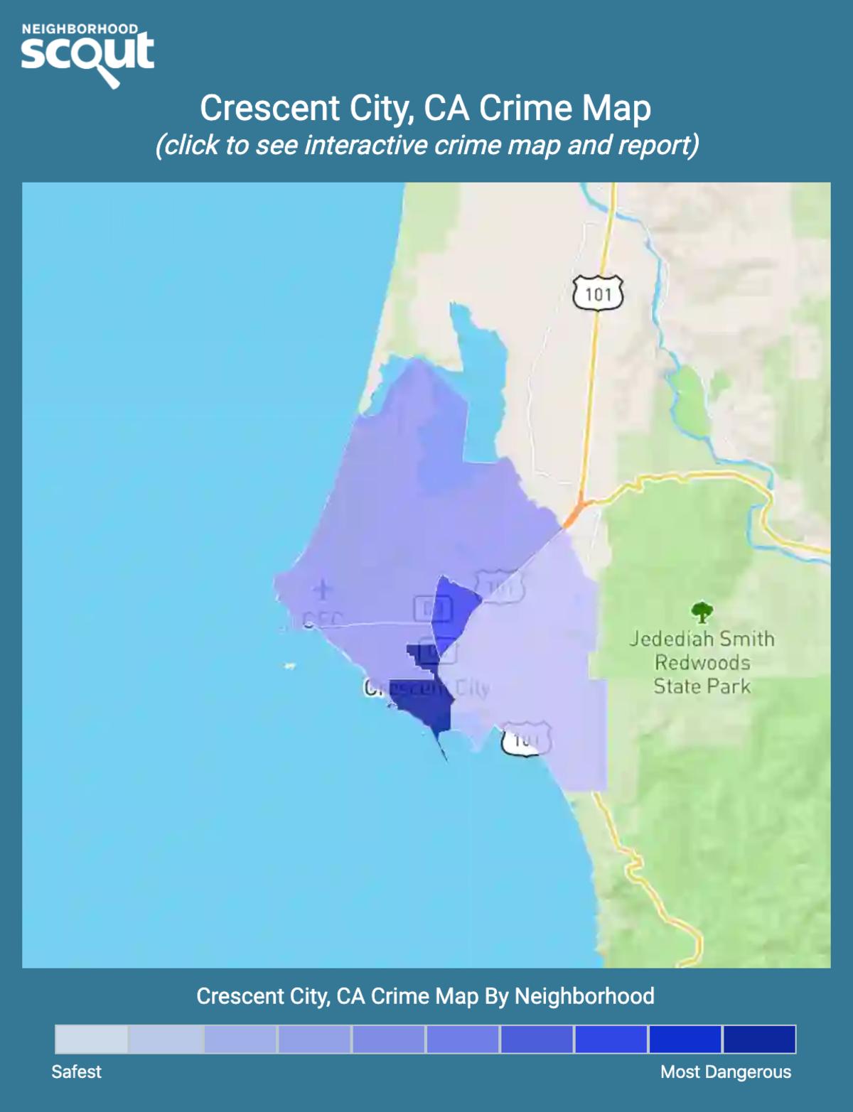Crescent City, California crime map