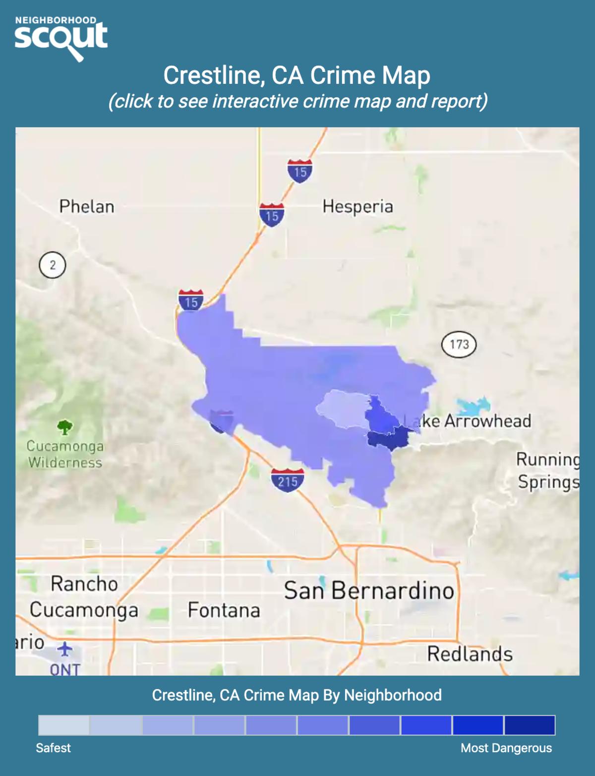 Crestline, California crime map