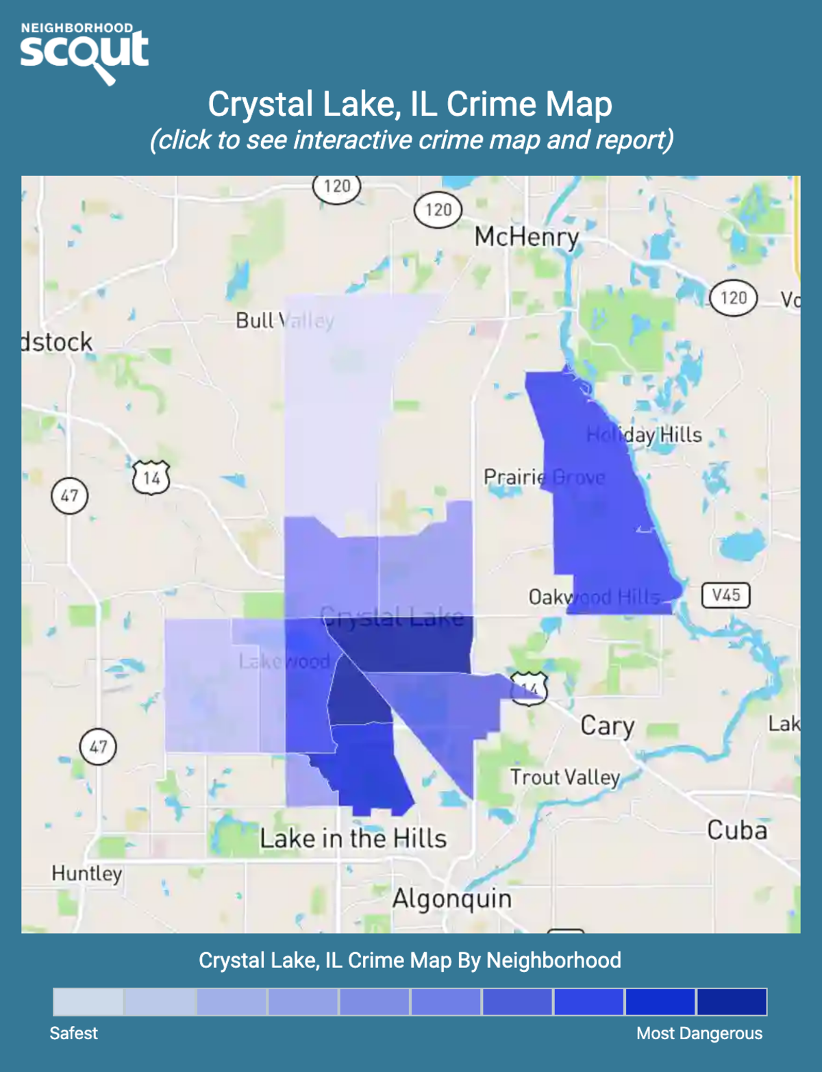 Crystal Lake, Illinois crime map