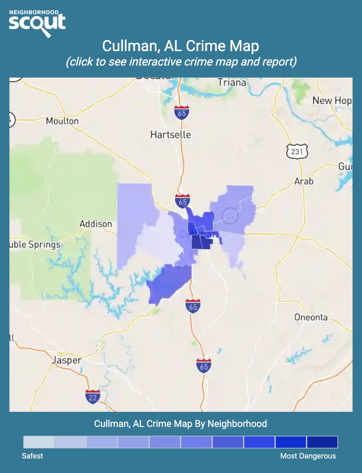 Cullman, Alabama crime map
