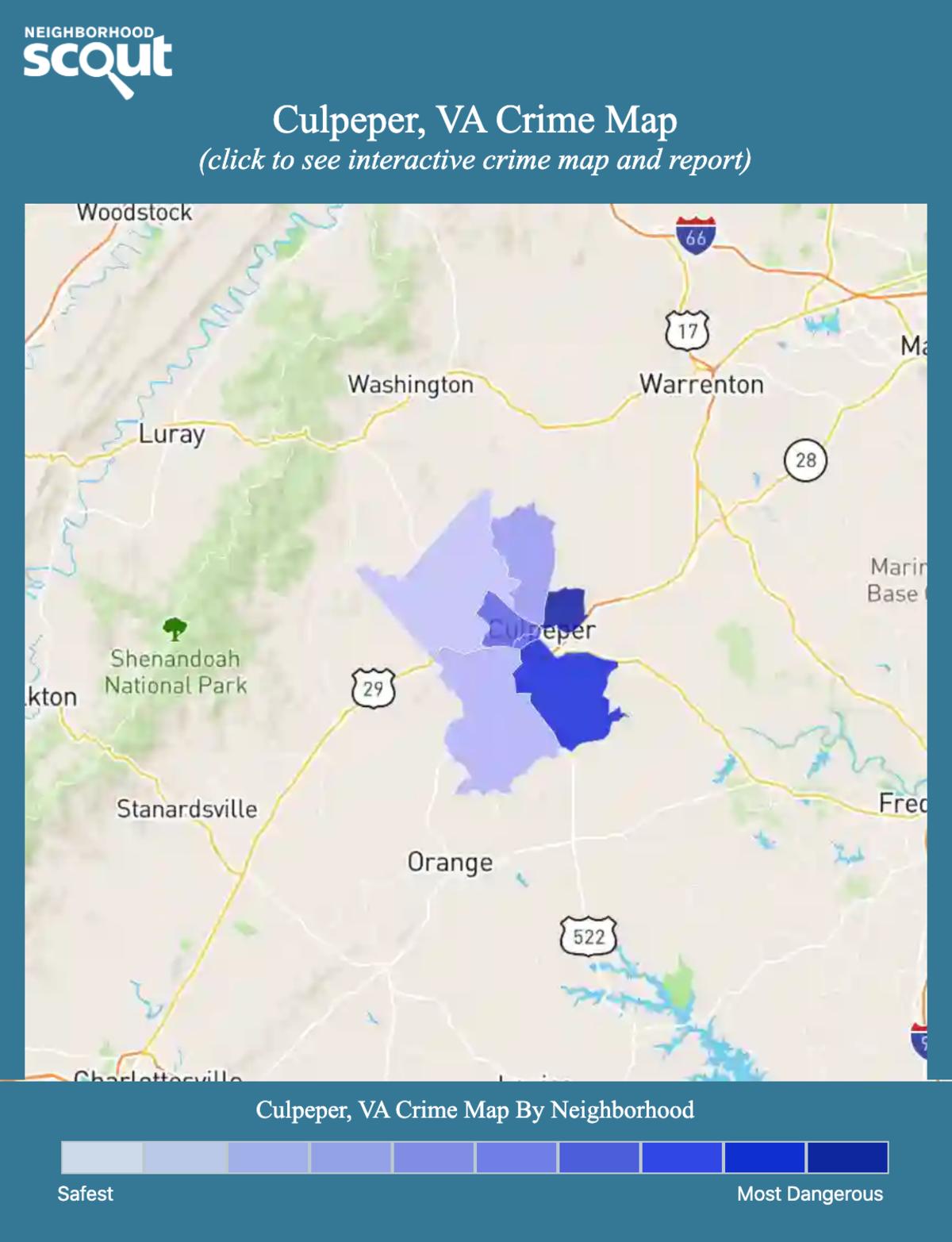 Culpeper, Virginia crime map