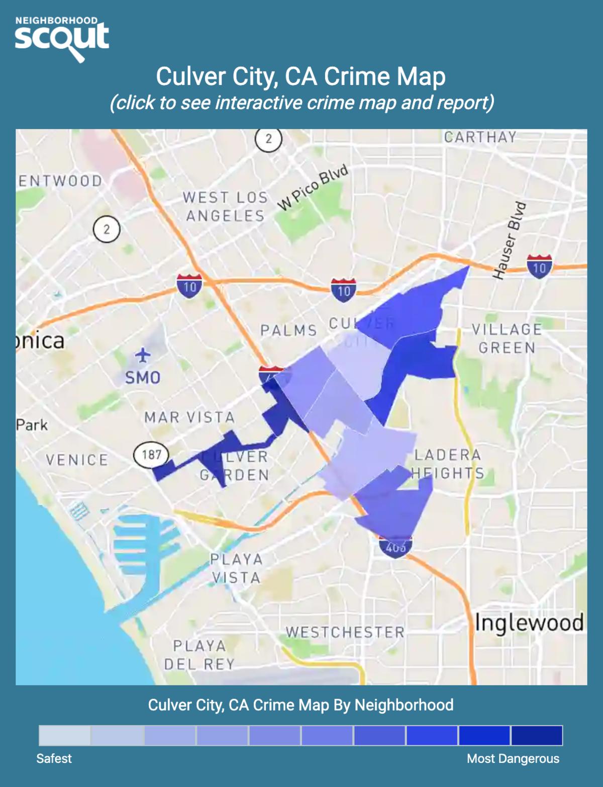 Culver City, California crime map