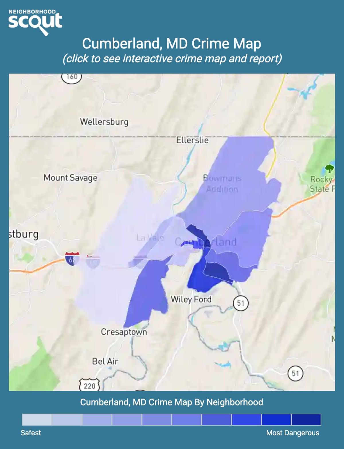 Cumberland, Maryland crime map