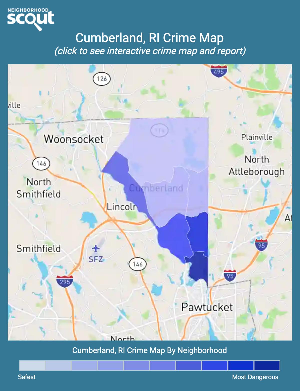 Cumberland, Rhode Island crime map