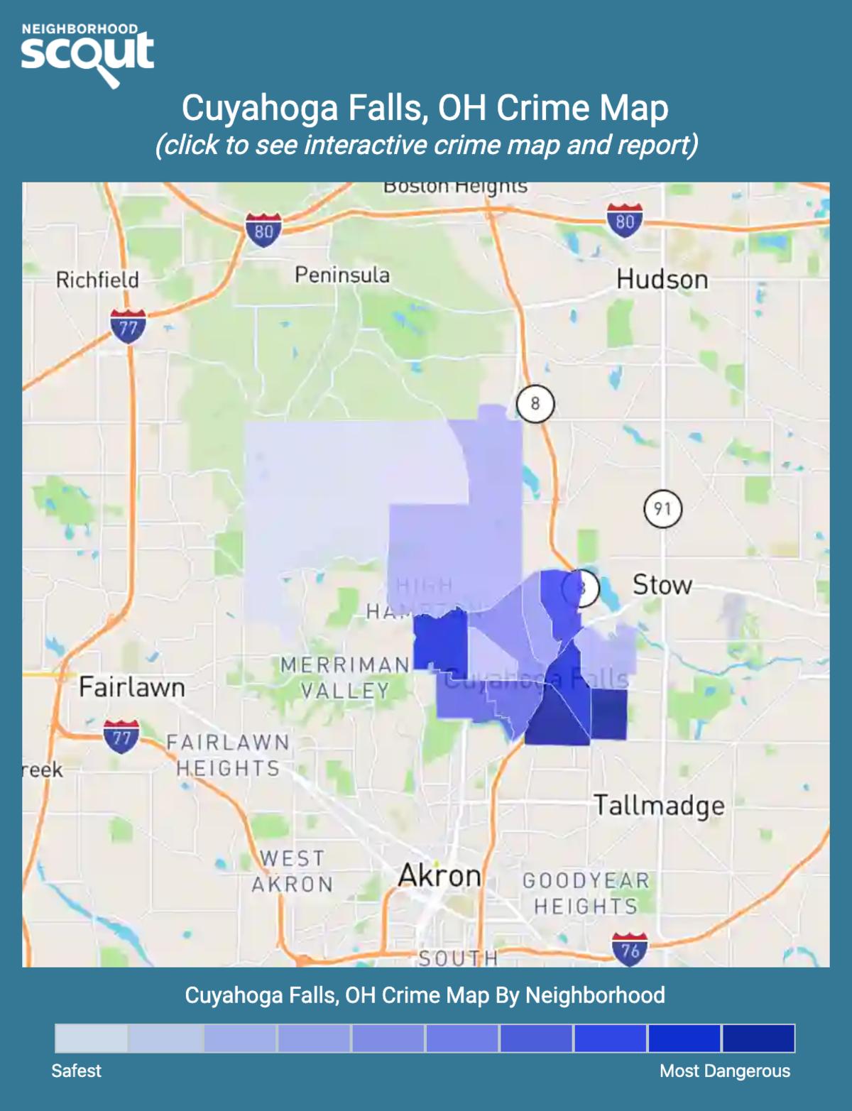 Cuyahoga Falls, Ohio crime map