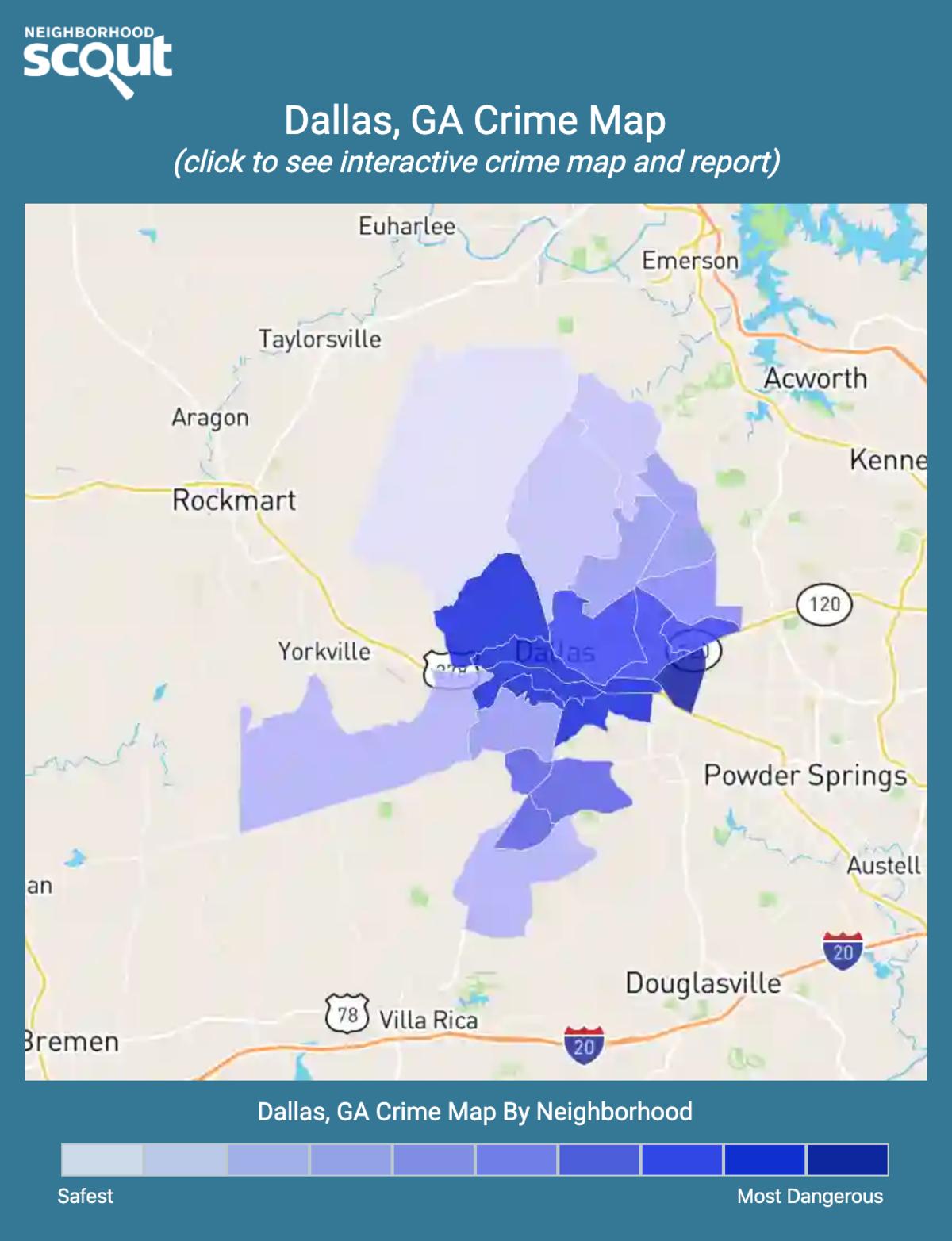 Dallas, Georgia crime map