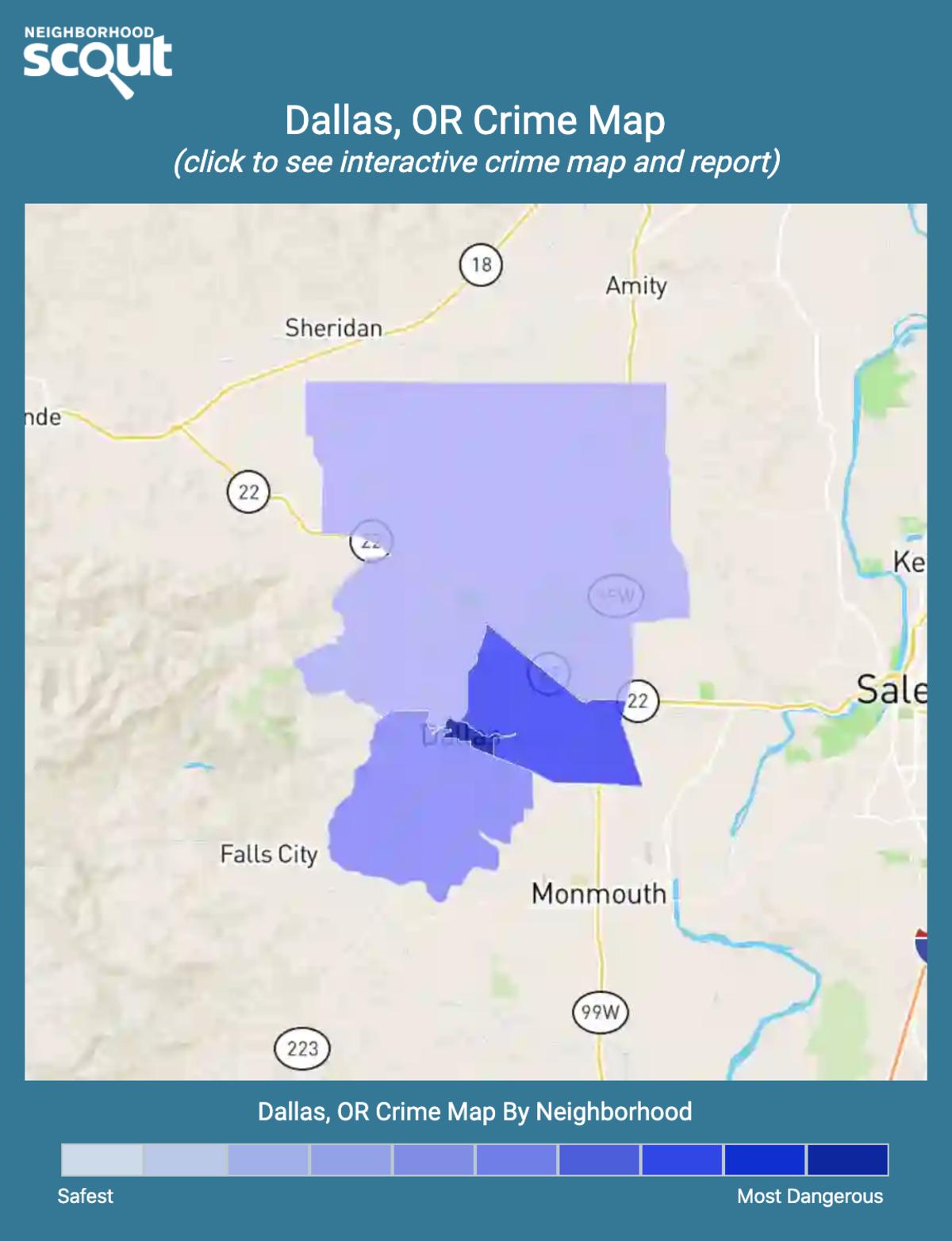 Dallas, Oregon crime map