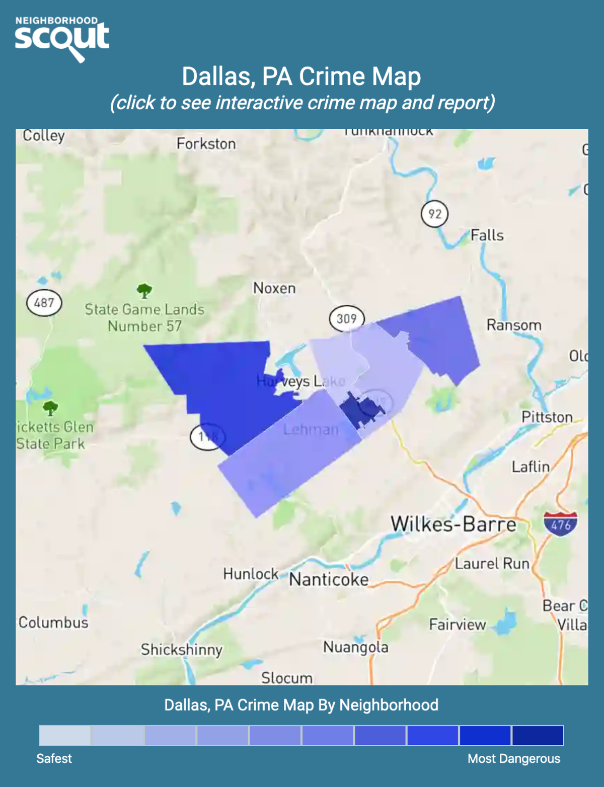 Dallas, Pennsylvania crime map