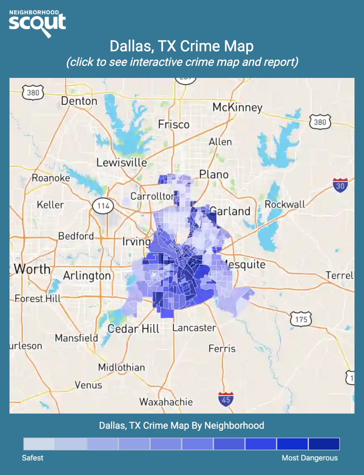 Dallas, Texas crime map