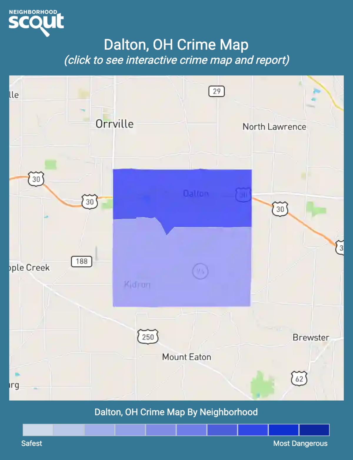 Dalton, Ohio crime map