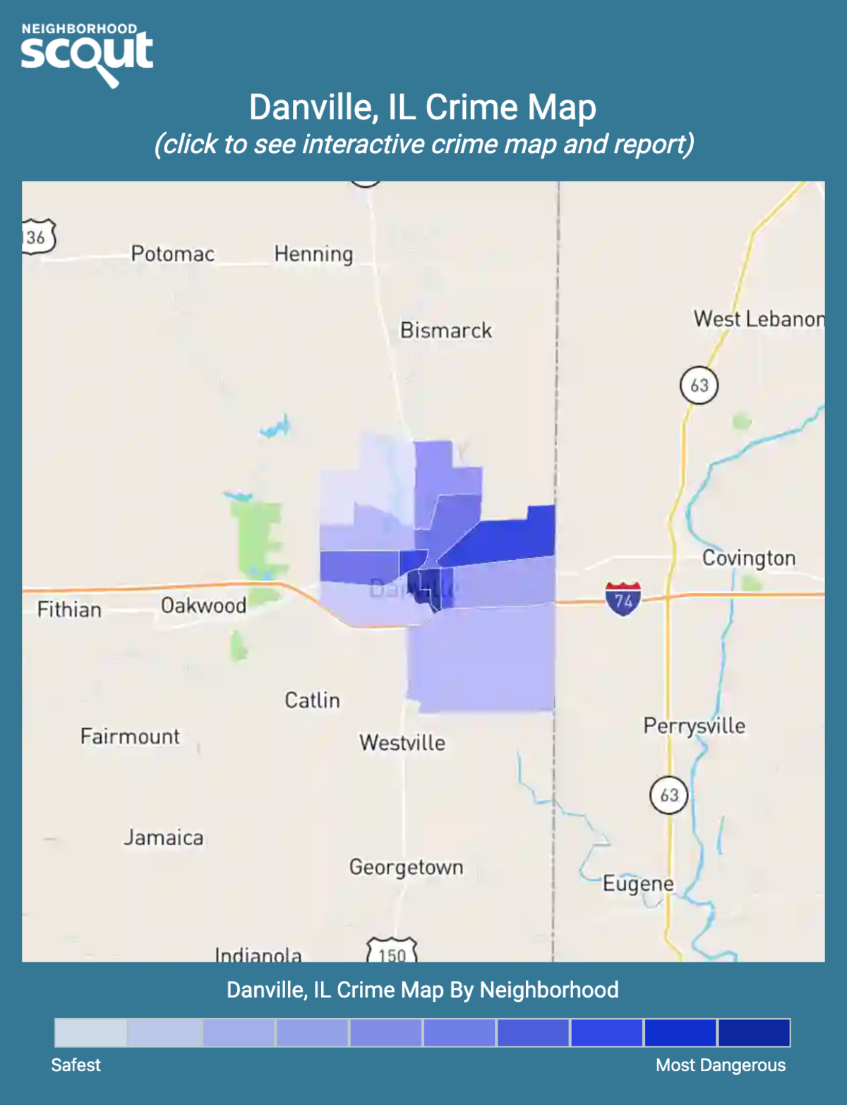 Danville, Illinois crime map