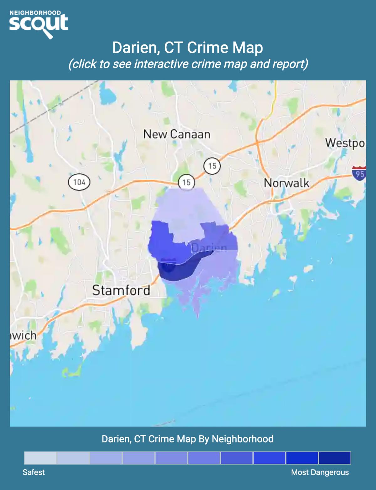 Darien, Connecticut crime map