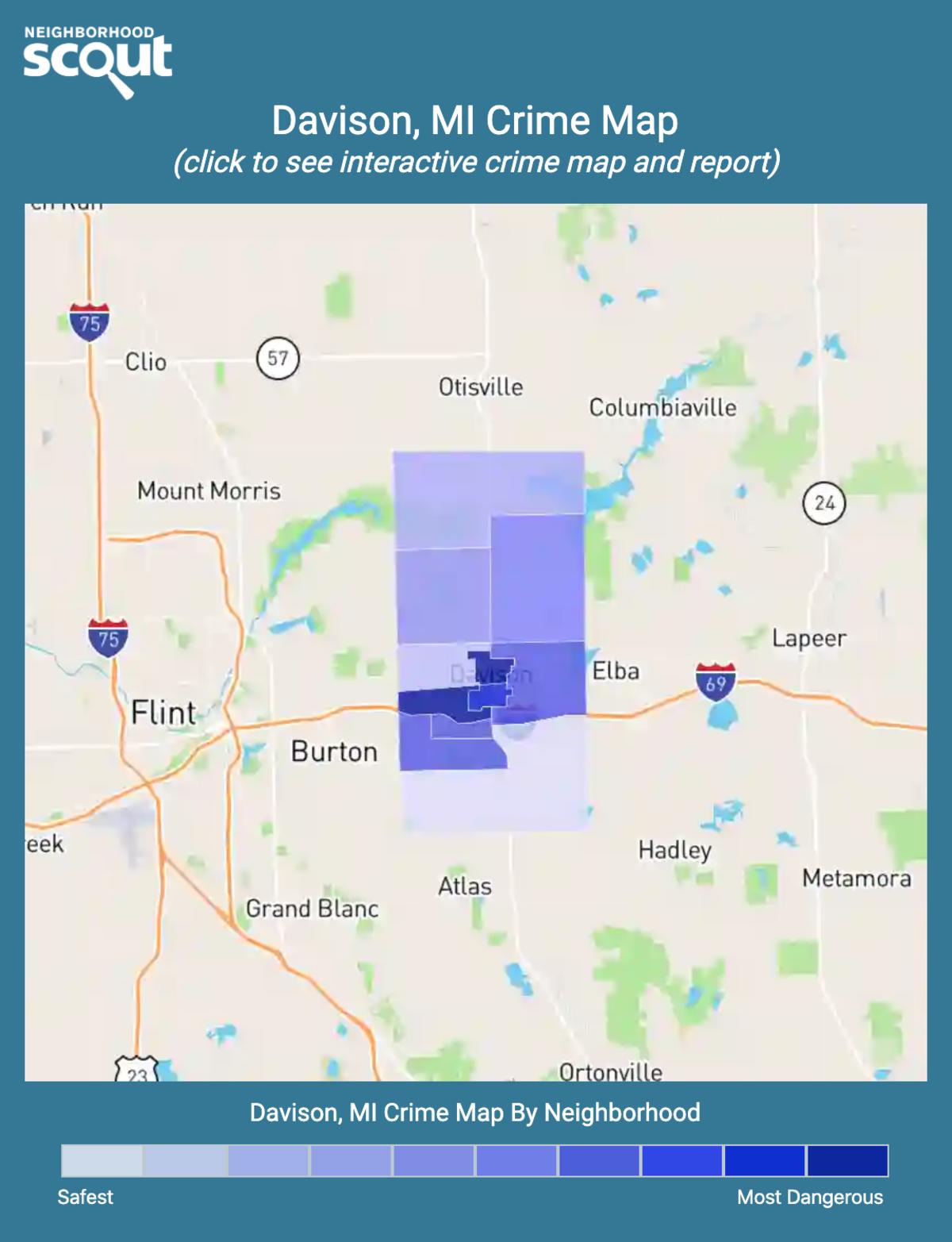 Davison, Michigan crime map