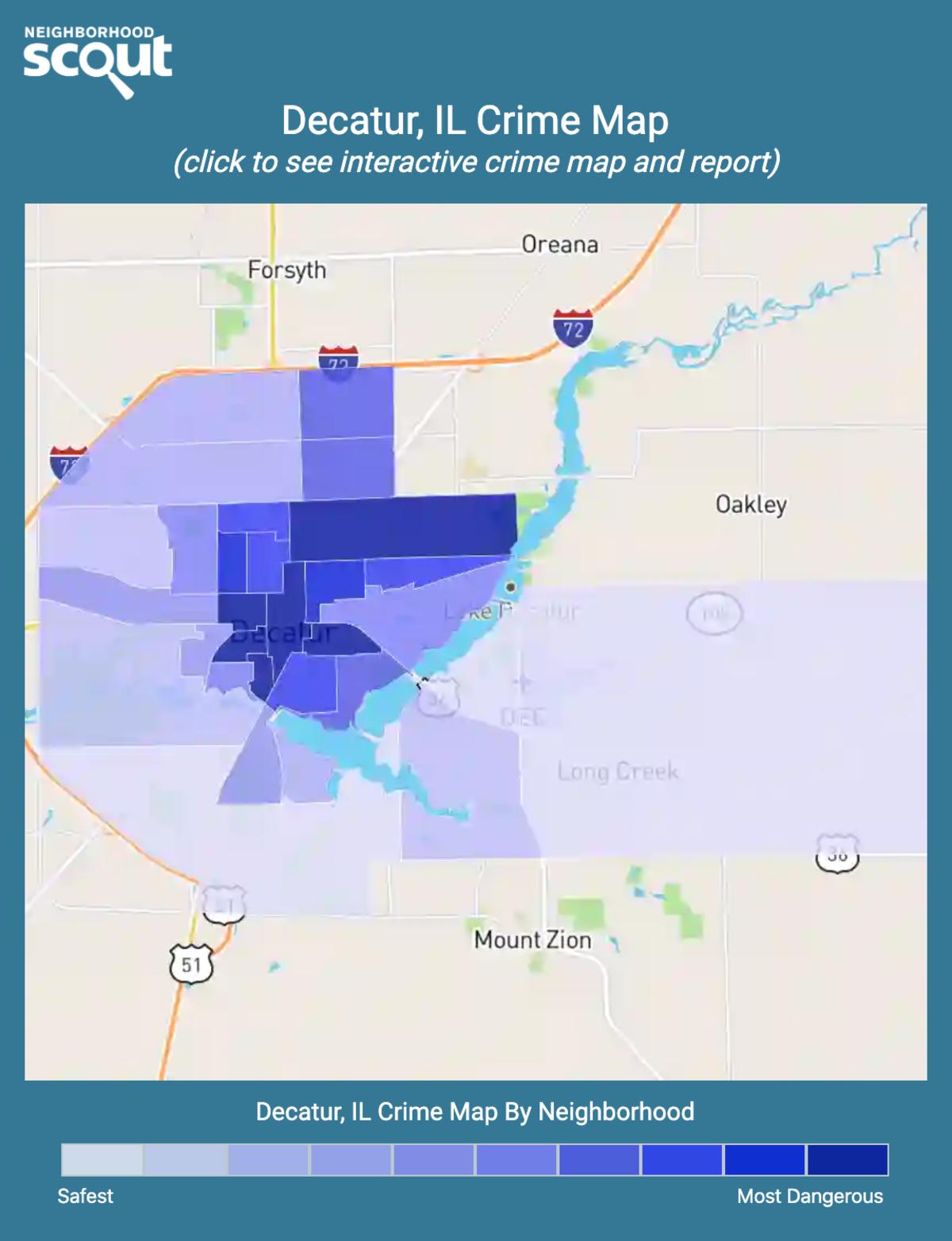 Decatur, Illinois crime map