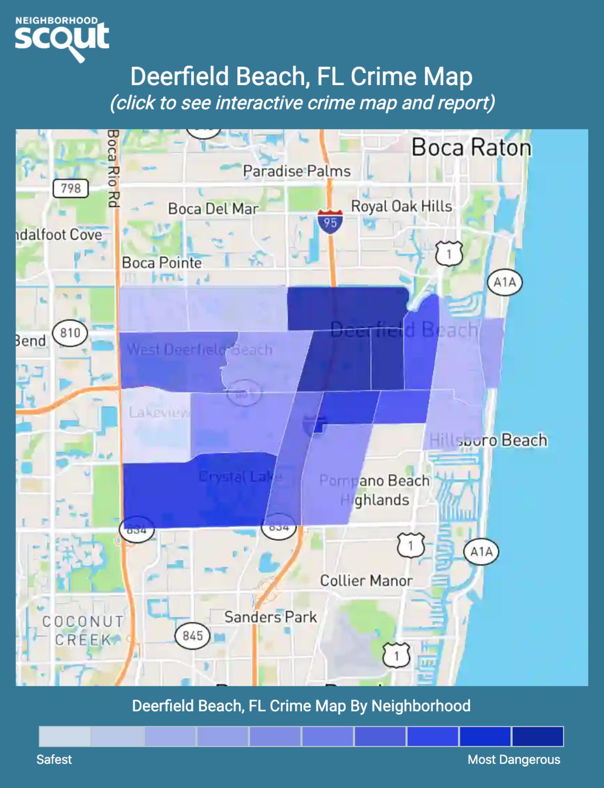 Deerfield Beach, Florida crime map
