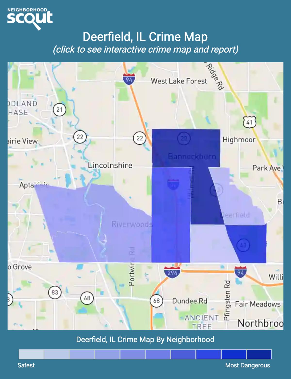 Deerfield, Illinois crime map