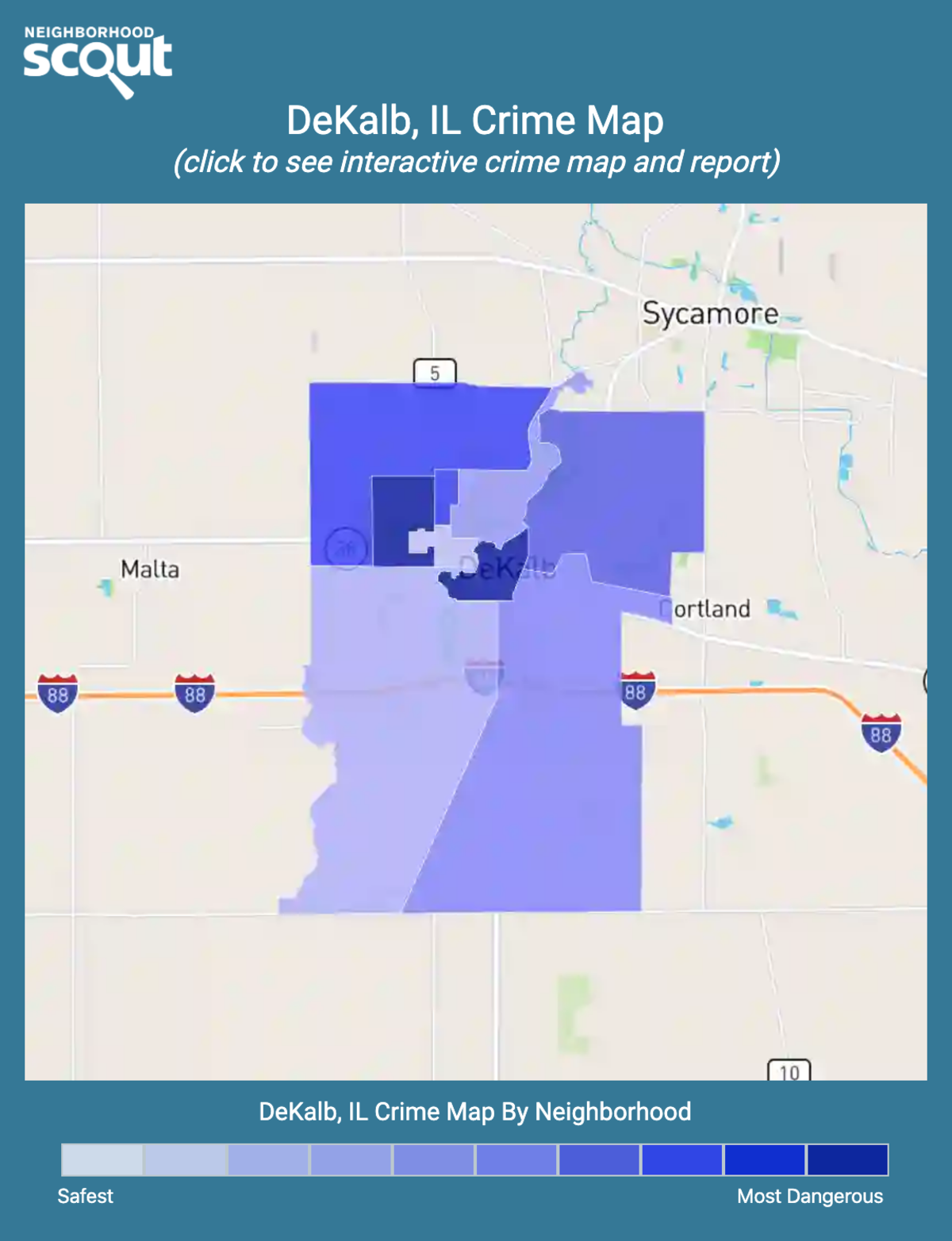 DeKalb, Illinois crime map