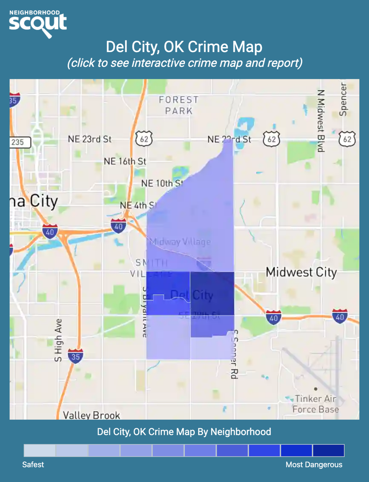 Del City, Oklahoma crime map