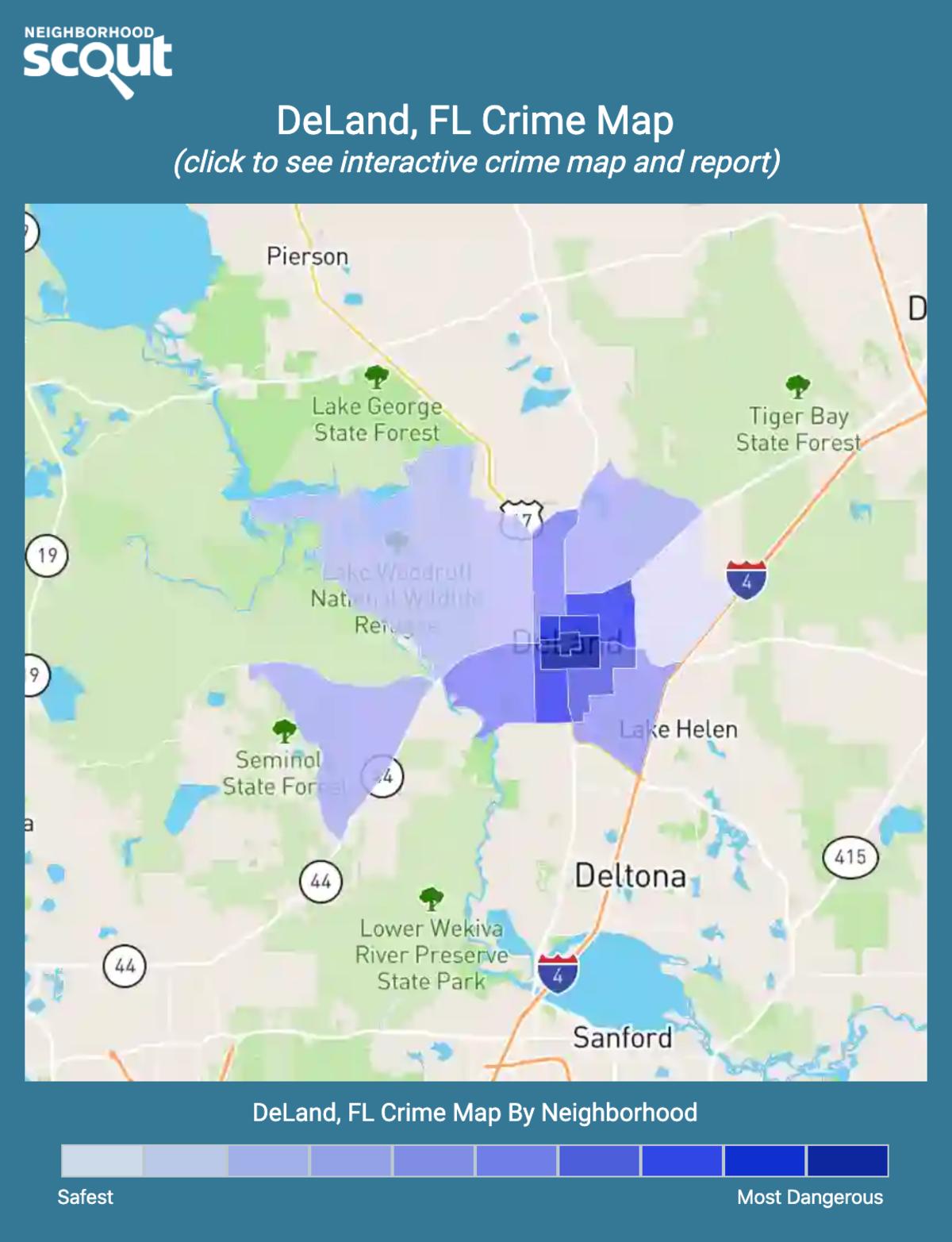 DeLand, Florida crime map