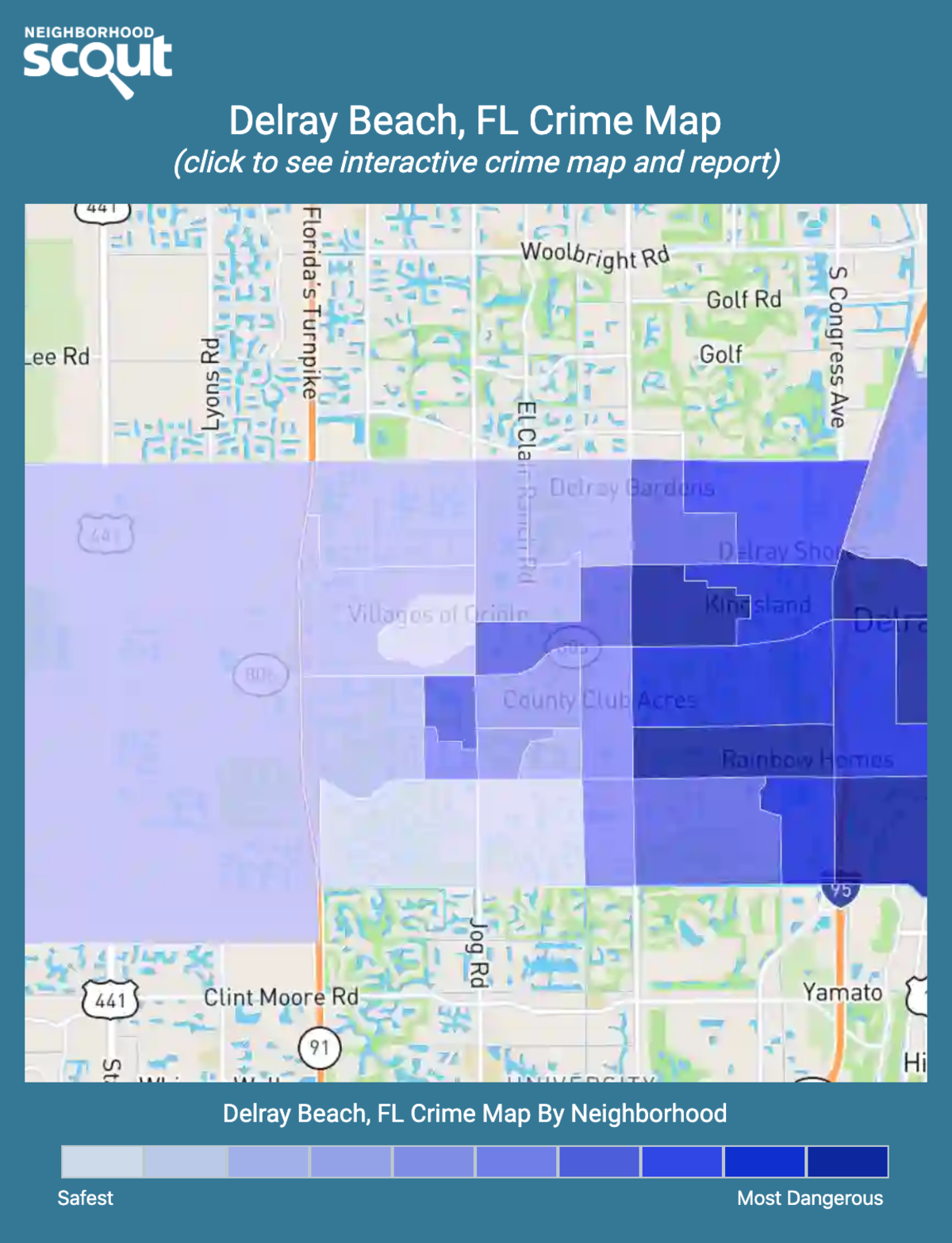 Delray Beach, Florida crime map