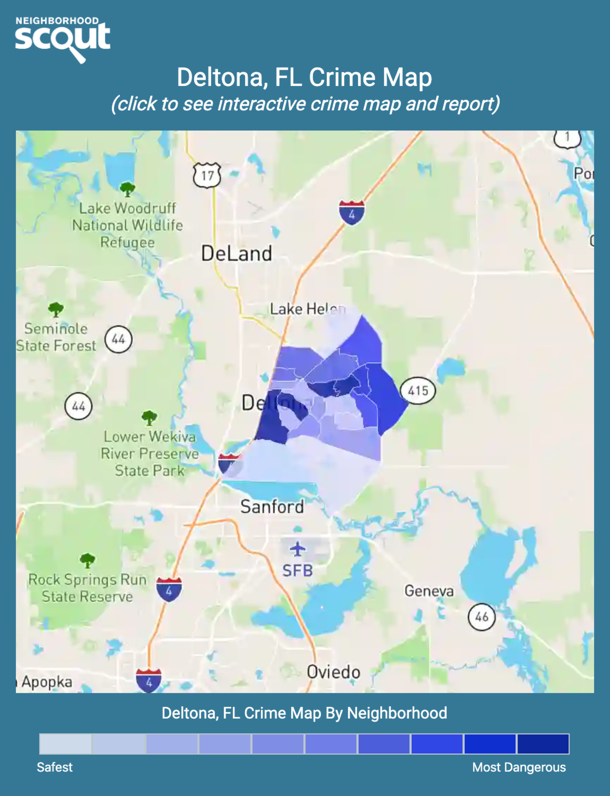 Deltona, Florida crime map