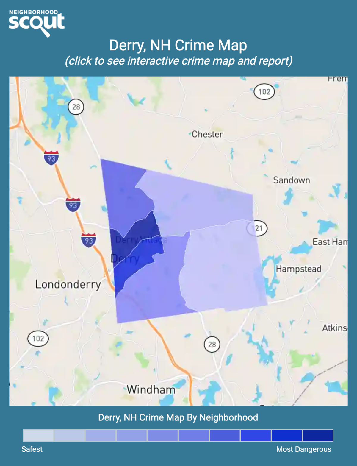 Derry, New Hampshire crime map