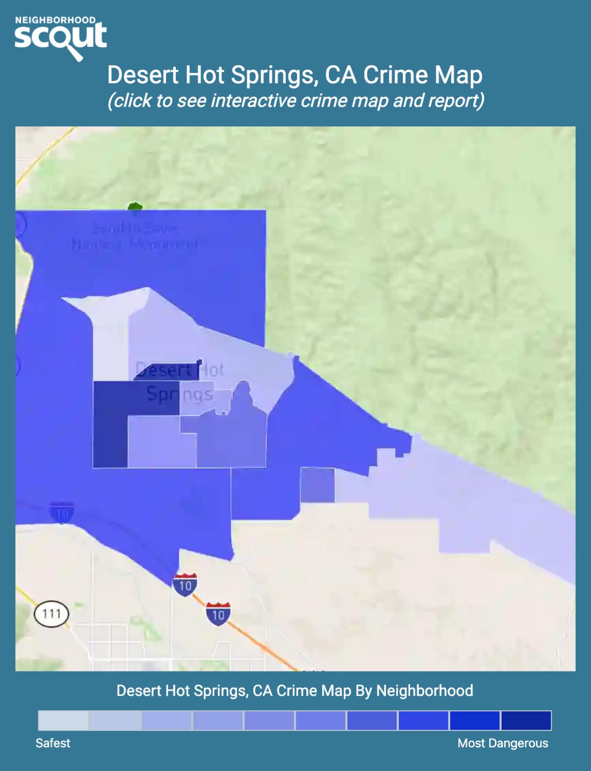 Desert Hot Springs, California crime map