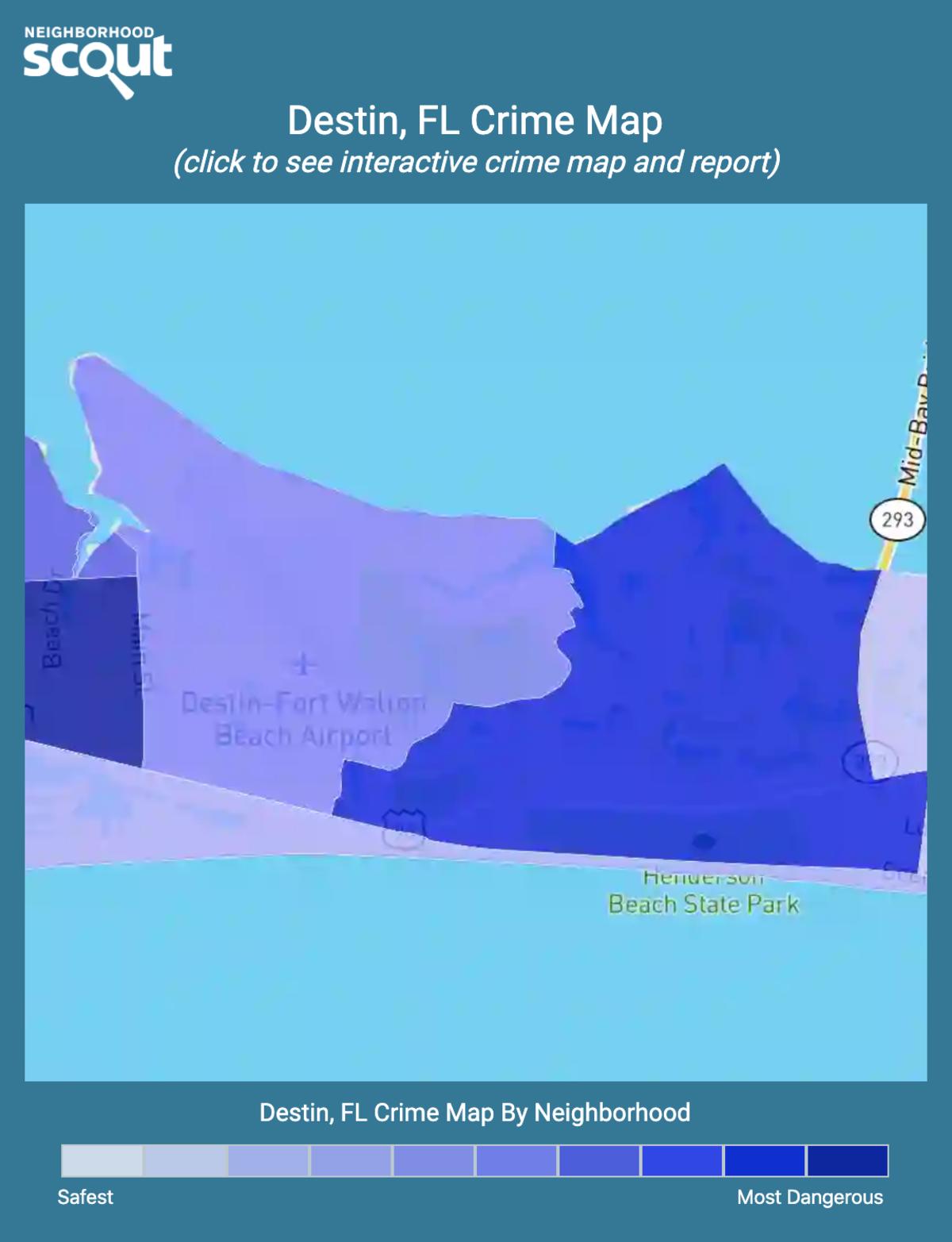 Destin, Florida crime map