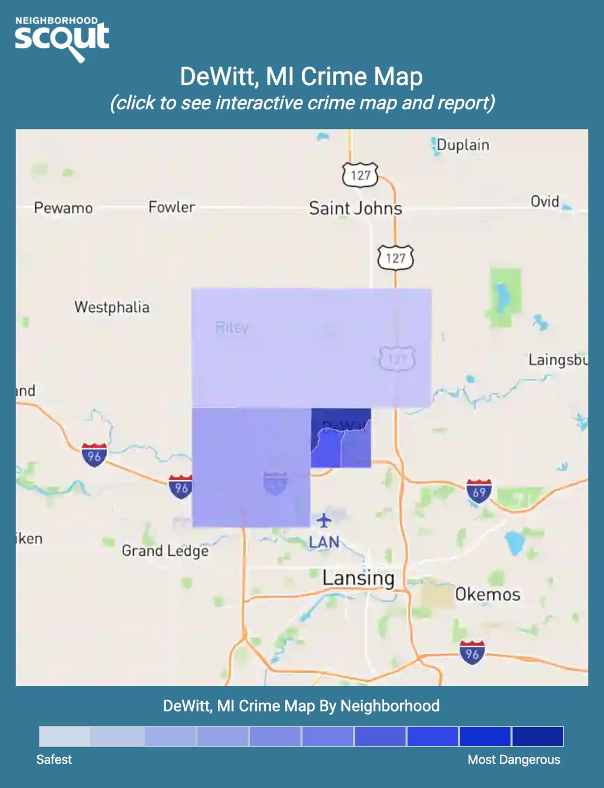 DeWitt, Michigan crime map