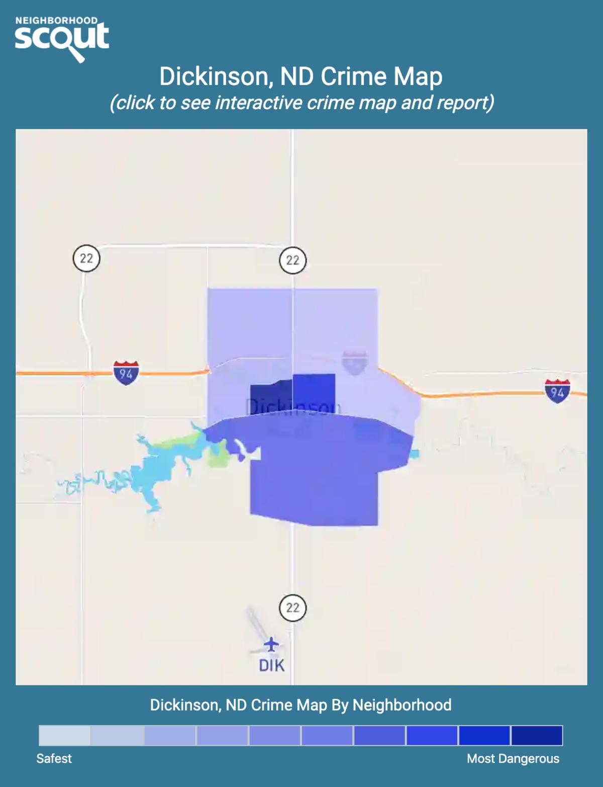 Dickinson, North Dakota crime map