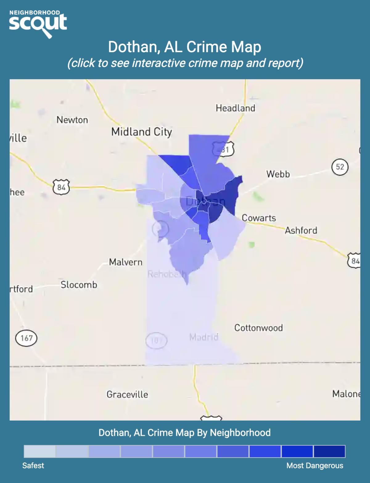 Dothan, Alabama crime map