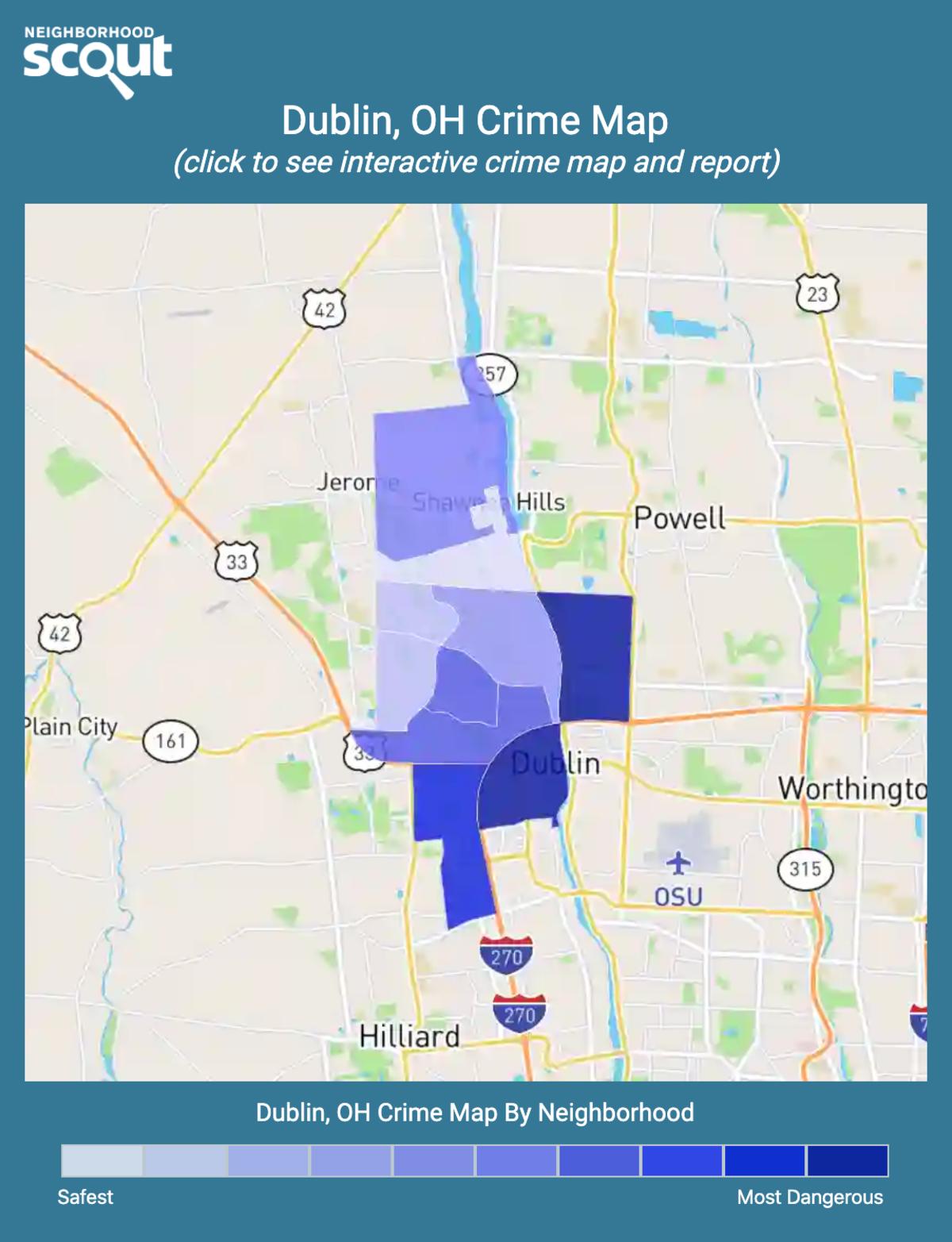 Dublin, Ohio crime map