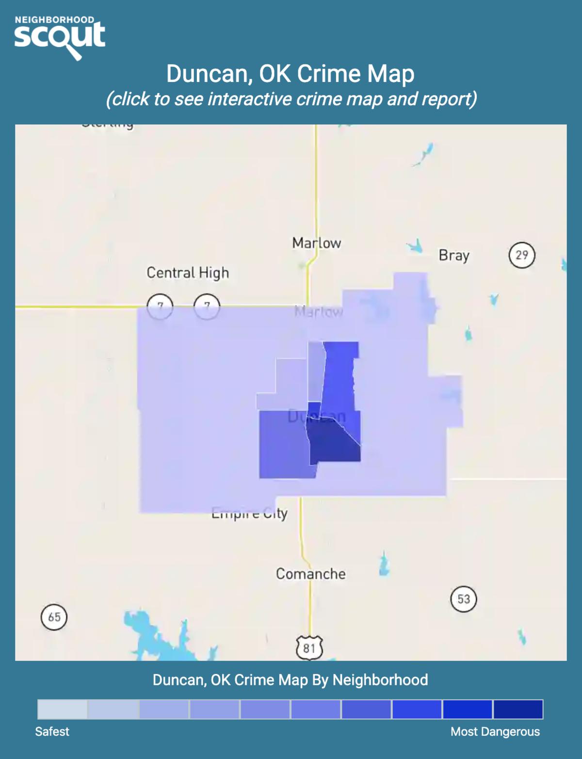 Duncan, Oklahoma crime map