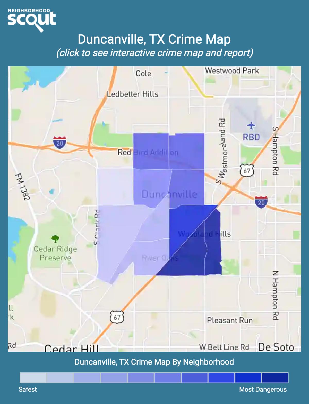 Duncanville, Texas crime map