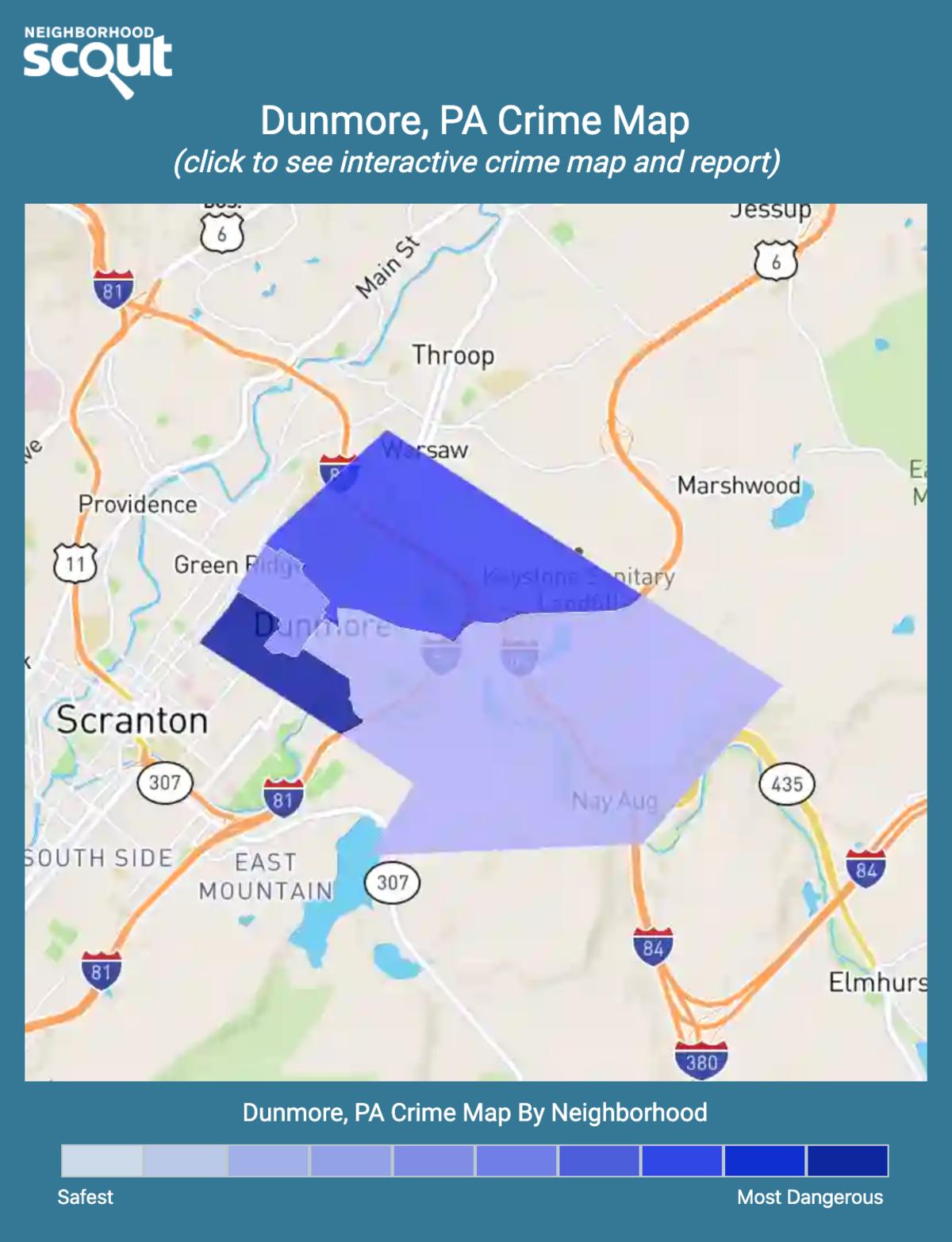 Dunmore, Pennsylvania crime map