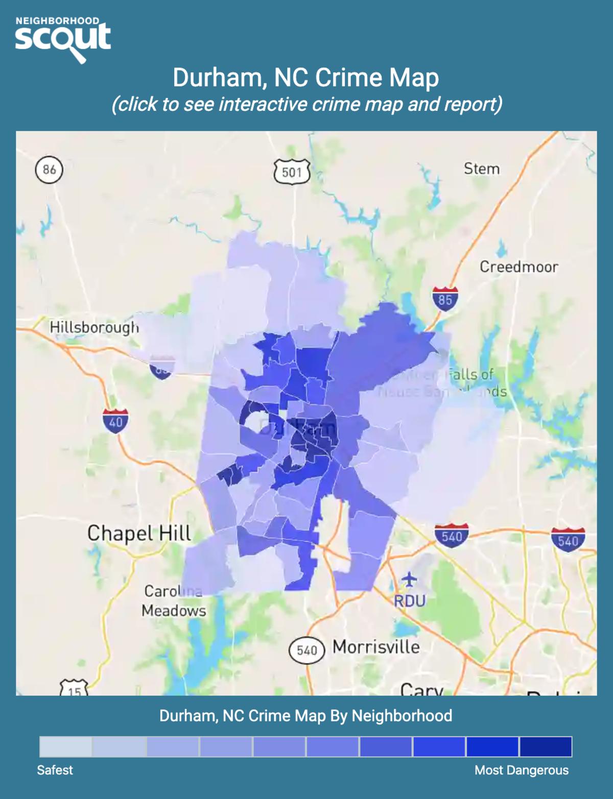 Durham, North Carolina crime map
