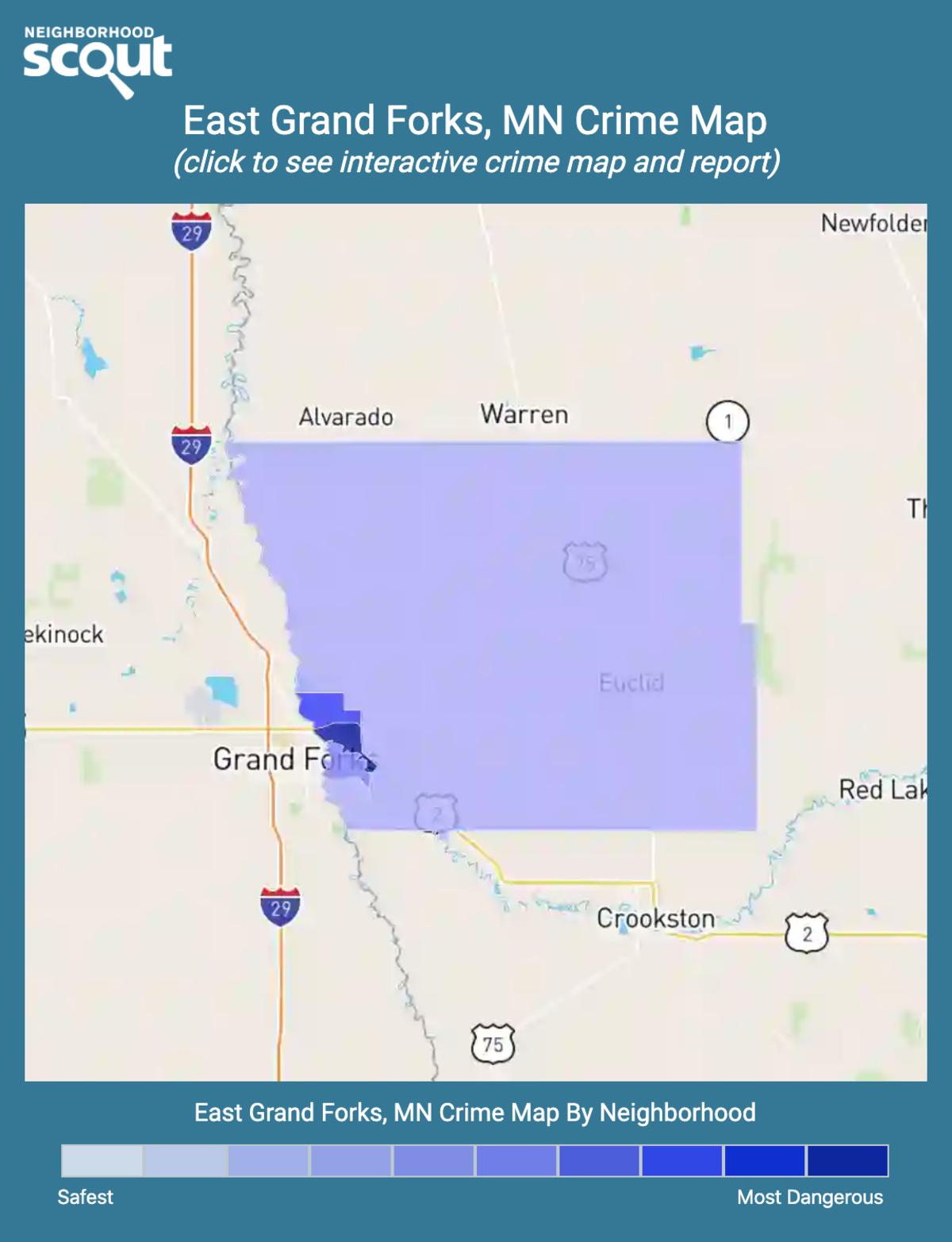 East Grand Forks, Minnesota crime map